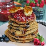 Healthy Vegan Blueberry Pancakes