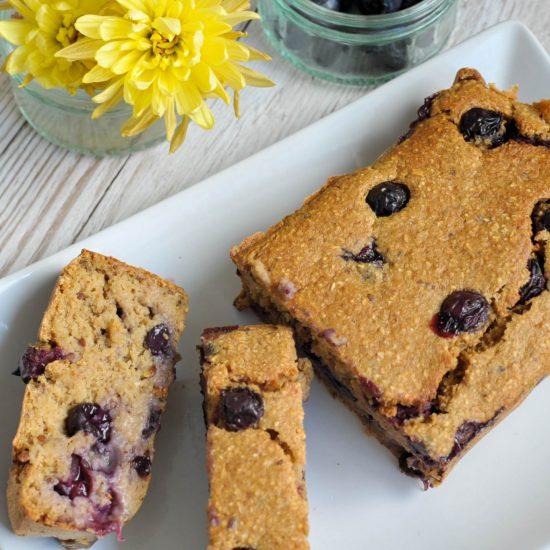 vegan blueberry bread