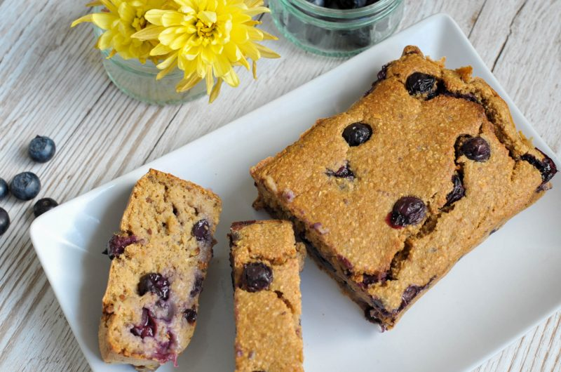 Vegan Blueberry Bread with Yoghurt - (Oil-free and nut-free)
