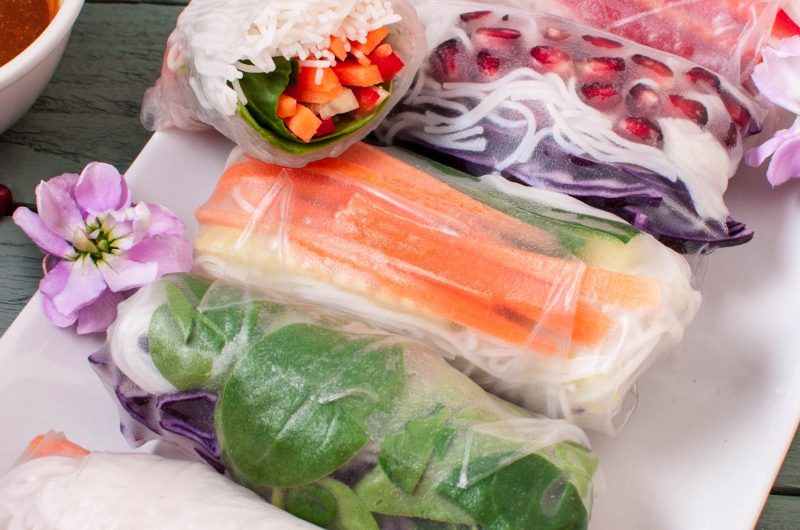 Colourful Vegan Summer Rolls