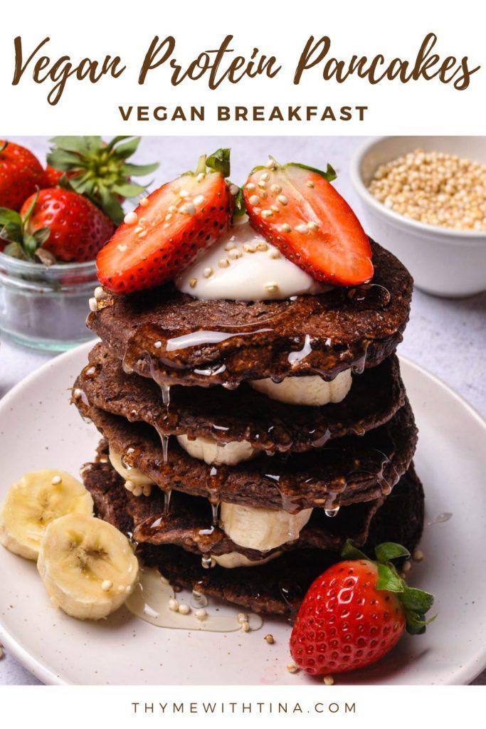 Vegan Chocolate protein pancakes